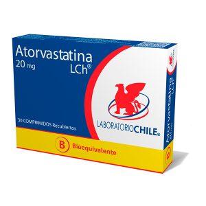 Atorvastatina 20 mg 30 comprimidos