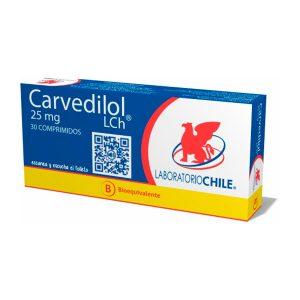 Carvedilol 25 mg 30 comprimidos