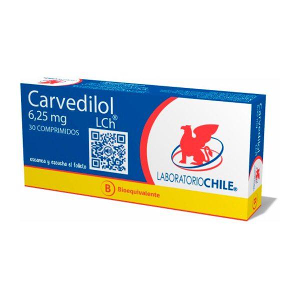 arvedilol 6,25 mg 30 comprimidos