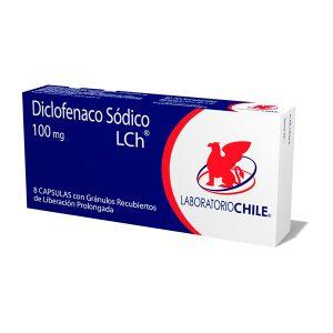 Diclofenaco sódico 100 mg 8 cápsulas