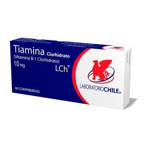 Tiamina Clorhidrato 10 mg Vitamina B-1 Clorhidrato