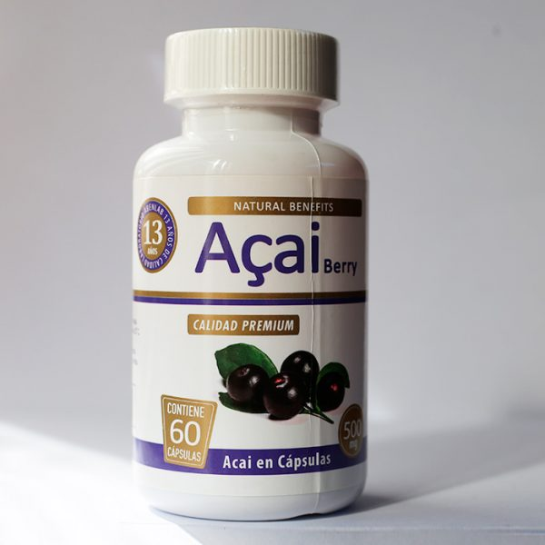 Acai Berry 500 mg 60 cápsulas