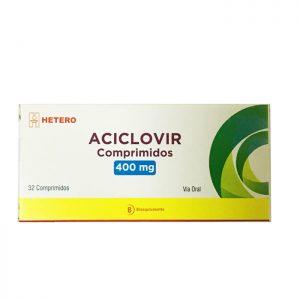 Aciclovir 400 mg 32 comprimidos Hetero