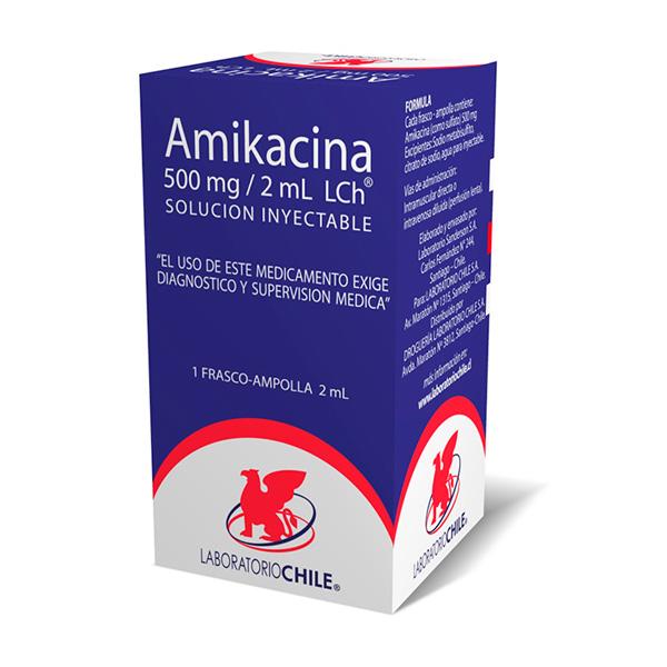 Amikacina 500 mg/2 ml solución inyectable