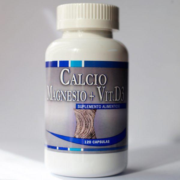 Calcio Magnesio + Vitamina D3 120 cápsulas