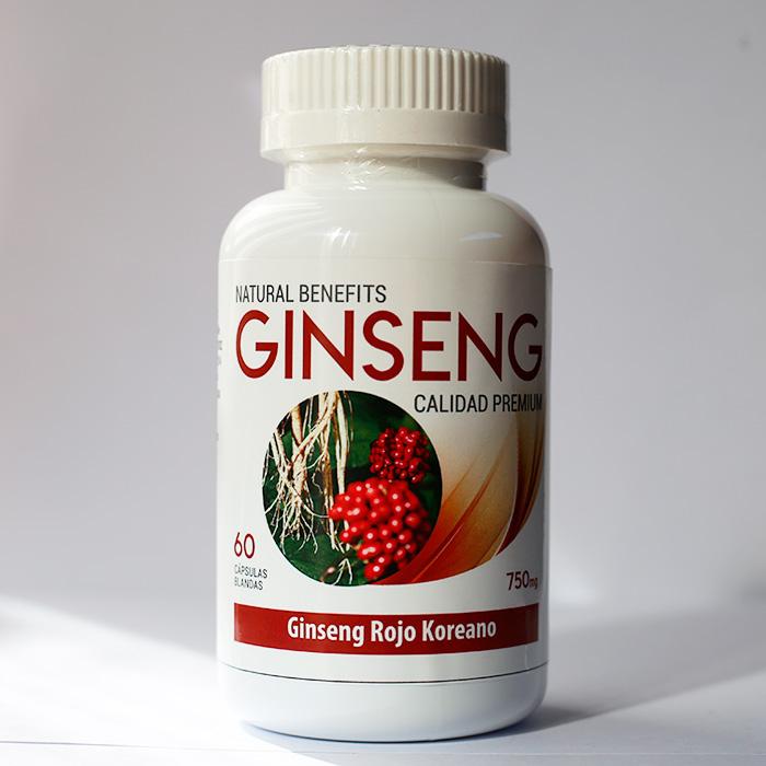 Ginseng Rojo Koreano 750 mg 60 cápsulas