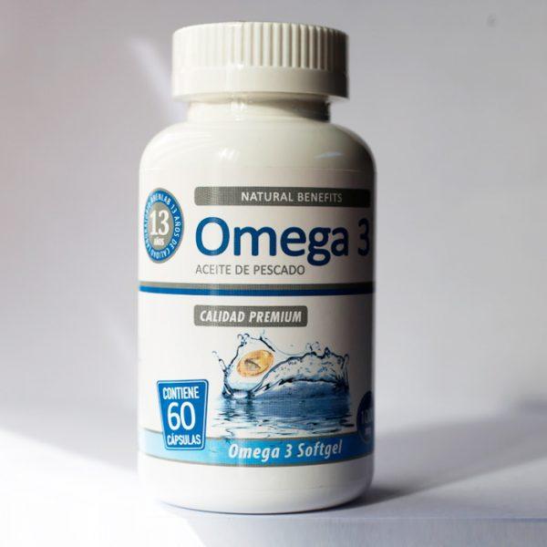 Omega 3 aceite de pescado 60 cápsulas