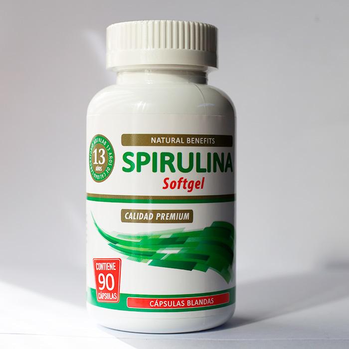Spirulina Softgel 60 cápsulas