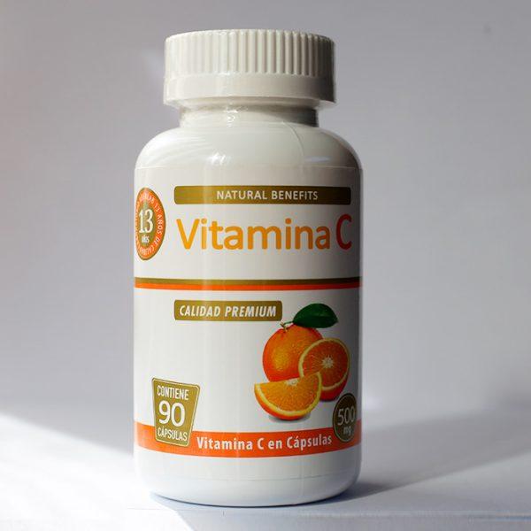 Vitamina C 500 mg 90 cápsulas