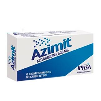 Azimit azitromicina 500 mg 6 comprimidos recubiertos