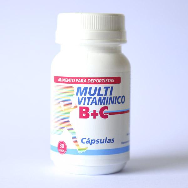 Multivitamínico B + C 30 cápsulas