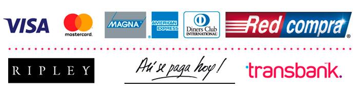 Logos formas de pago transbank