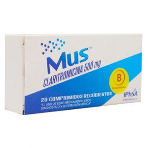 Mus claritromicina 500 mg 20 comprimidos