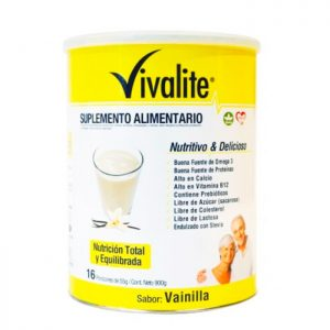 Vivalite suplemento alimentario sabor a vainilla