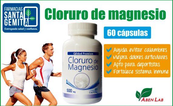Cloruro de magnesio 60 cápsulas