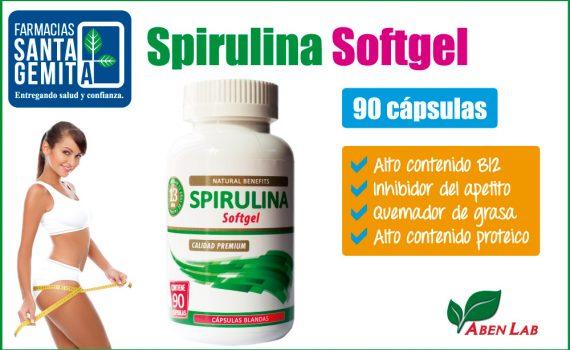 Spirulina Softgel, vida sana