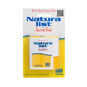 Endulzante con sucralosa 500 tabletas Naturalist