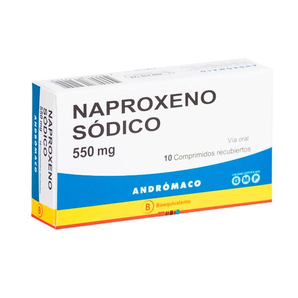 naproxeno sódico 550 mg 10 comprimidos recubiertos