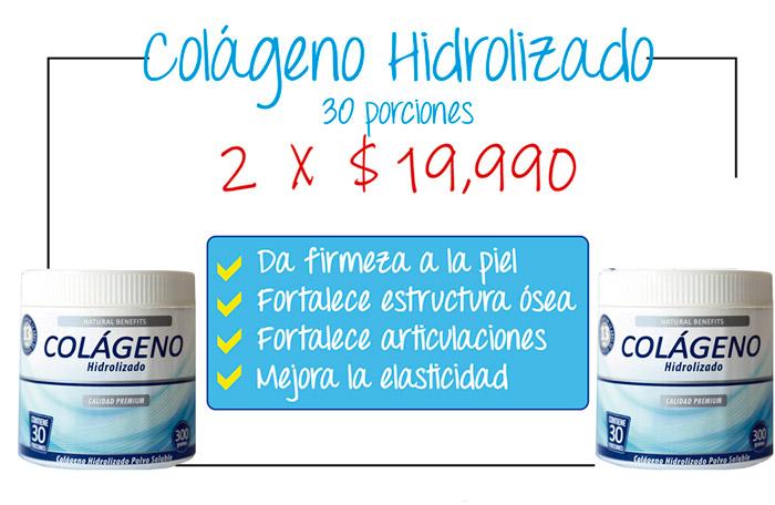 Oferta pack de potes de colágeno hidrolizado laboratorio Aben Lab