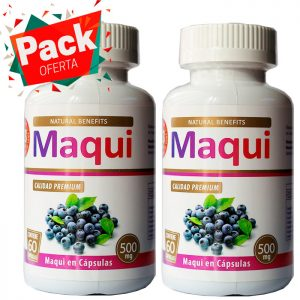 Pack oferta maqui 500 mg aben lab