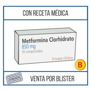 Metformina Clorhidrato 850 mg 30 comprimidos