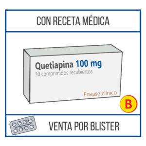 Quetiapina 100 mg 30 comprimidos