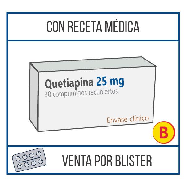 Quetiapina 25 mg 30 comprimidos