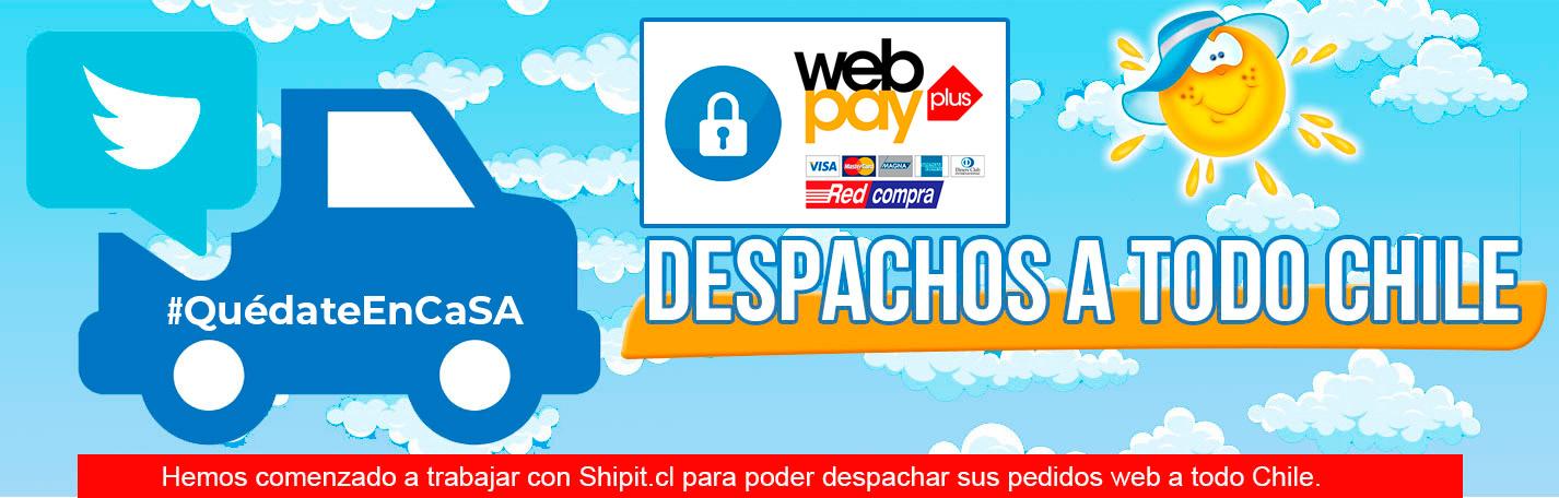 Despacho a domicilio en todo en Chile