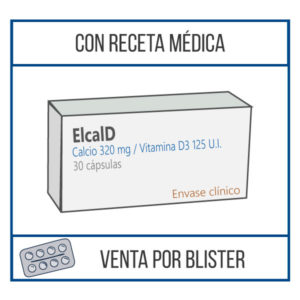 Elcal D 320 mg 30 cápsulas