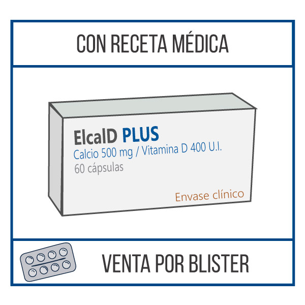 Elcal D Plus 500 mg 60 cápsulas