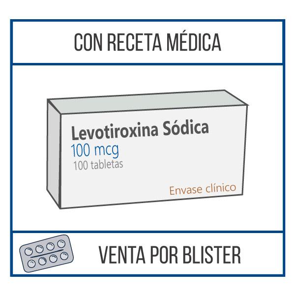 Levotiroxina sódica 100 mcg 100 tabletas
