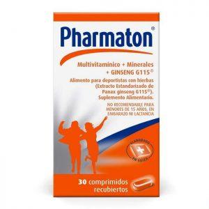 Pharmaton multivitamínico + minerales + ginseng g115 30 comprimidos recubiertos