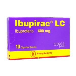Ibupirac lc 600 mg 10 cápsulas blandas