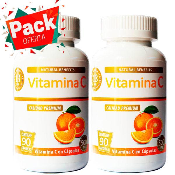 Pack oferta vitamina c 500 mg 90 cápsulas