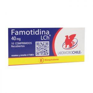 famotidina 40 mg 10 comprimidos recubiertos laboratorio chile
