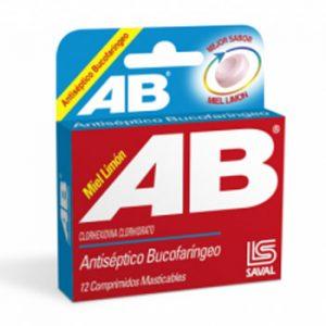 AB antiséptico bucofaríngeo 12 comprimidos masticables