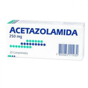 Acetazolamida 250 mg 20 comprimidos mintlab