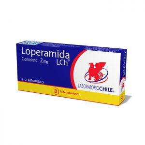 Loperamida 2 mg Laboratorio Chile 6 comprimidos