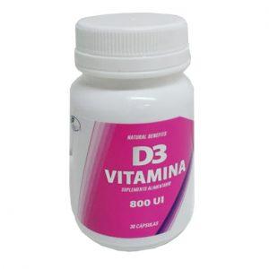 Vitamina D3 UI 30 cápsulas