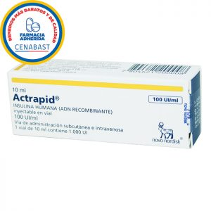 actrapid 10 ml insulina humana adn recombinante 100 UI/ml