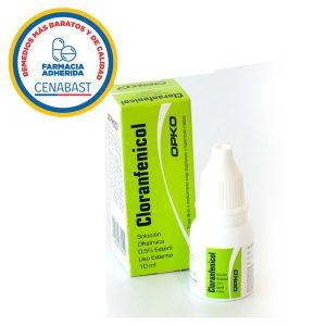 cloranfenicol solución oftálmica 10 ml