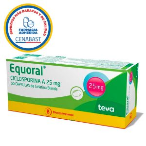 equoral ciclosporina a 25 mg 50 cápsulas