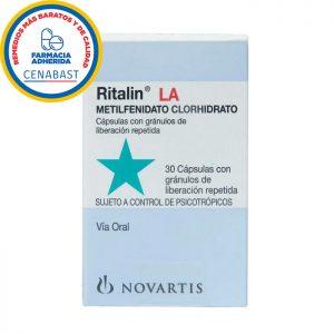 Ritalin 10 mg metilfenidato clorhidrato 30 cápsulas