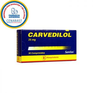 carvedilol 25 mg 30 comprimidos Sanitas