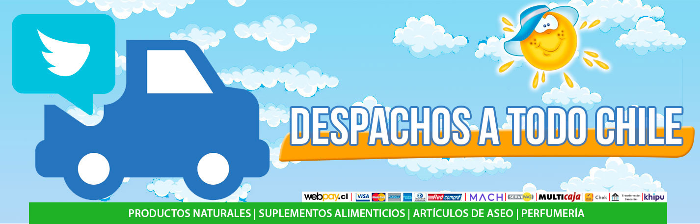 Despacho a domicilio en todo en Chile