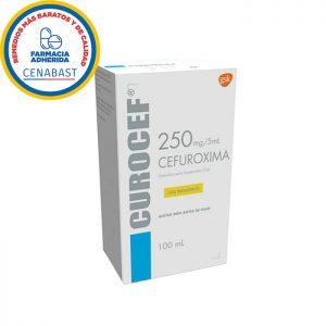 Curocef 250 mg 5 ml cefuroxima 100 ml