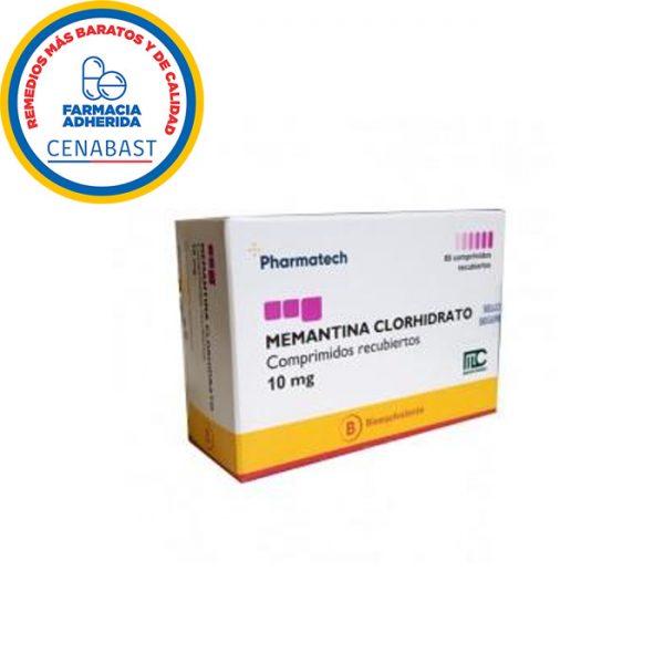 memantina clorhidrato 10 mg 60 comprimidos pharmatech