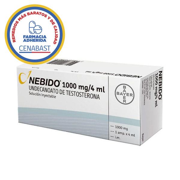 nebido 1000 mg 4 ml undecanoato de testosterona 1000 mg