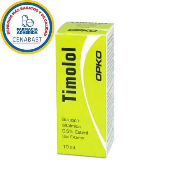 timolol solución oftálmica estéril 05% opko