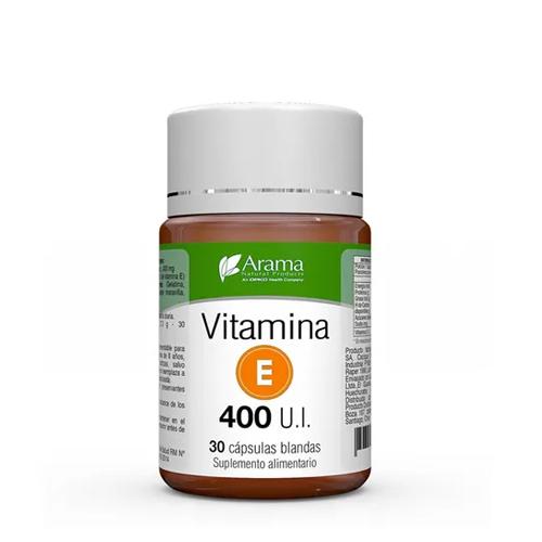 vitamina e 400 ui 30 cápsulas blandas arama